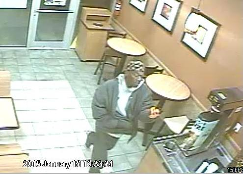 Surveillance image from the Jan. 18 robbery of the Subway restaurant on South Claiborne. (via NOPD)