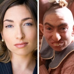 "Naomi Grossman and her ""American Horror Story"" character, Pepper. (via twitter.com/naomiwgrossman)"