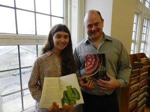 Lusher Charter School Street's Faculty Advisor Brad Richard with Student Editor Helene Lovett.
