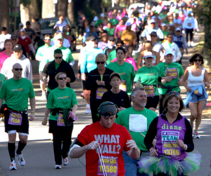 Thousands of runners on St. Charles Avenue during the Rock 'n' Roll Marathon in 2011. (UptownMessenger.com file photo by Sabree Hill)