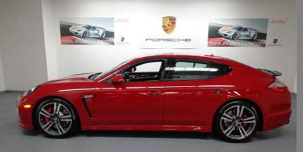 A Porsche Panamera similar to the one used in the robbery. (image via NOPD)