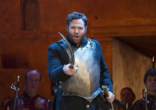 "Bryan Hymel in ""Les Troyens"" at the Royal Opera House (photo by Bill Cooper / Royal Opera House, via bryanhymel.com)"