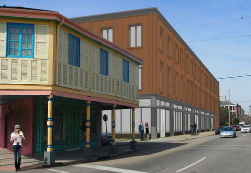 The new development proposed for Magazine Street between Richard and Felicity streets. (rendering by Studio WTA, courtesy of Wayne Troyer)