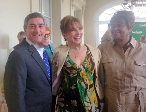 Lt. Gov. Jay Dardenne and supporters at the Cabildo this week. (photo by Danae Columbus for UptownMessenger.com)