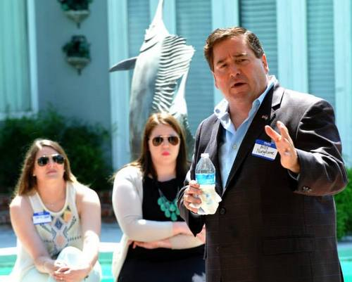 Billy Nungesser speaks at the Lafourche Republican Women's Meet and Greet. (photo via facebook.com/BillyNungesserPage on April 28)