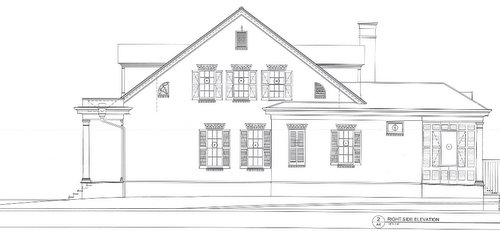 A side view of the house proposed for 518 Eleonore. (via nola.gov)