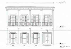 Renderings by MetroStudio architects for a new home at 918 Soniat. (via City of New Orleans)