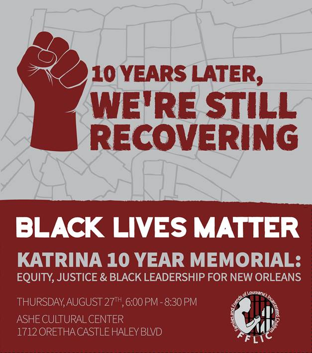 Black Lives Matter Katrina memorial