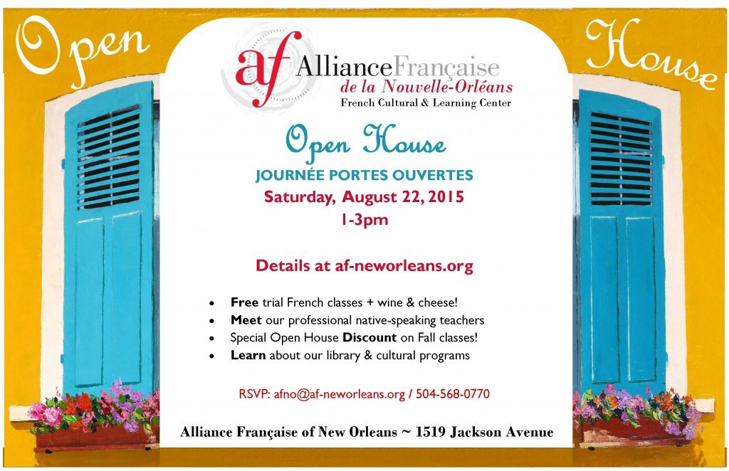 Alliance Francaise Open House 2015