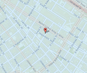 The 1500 block of the former LaSalle Street, now the Rev. John Raphael Jr. Way. (map via NOPD)