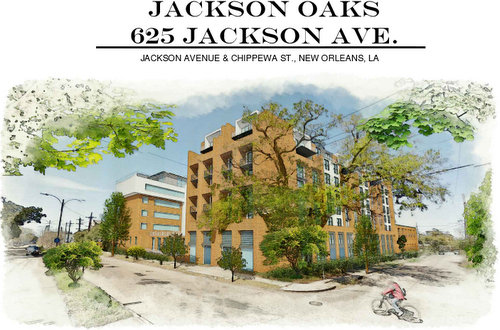 The proposed Jackson Oaks redevelopment of the former Sara Mayo hospital. (rendering by Harry Baker Smith architects, via City of New Orleans)