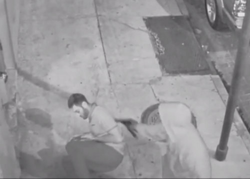 A still image from the video of the shooting. (via New Orleans Police)