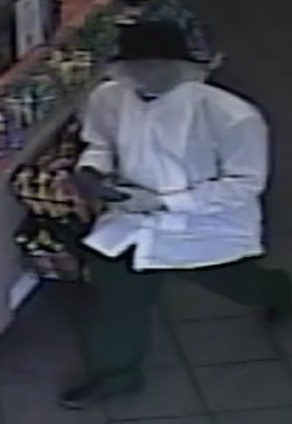 Still image from the Smoothie King robbery (via NOPD).