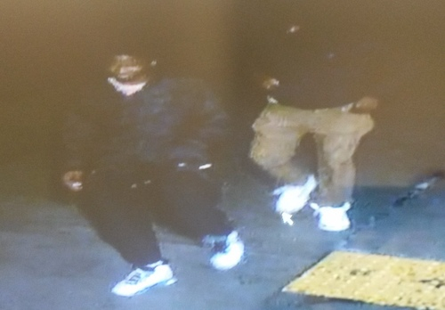 A still image from surveillance video in the robbery at Dryades and General Taylor. (via NOPD)