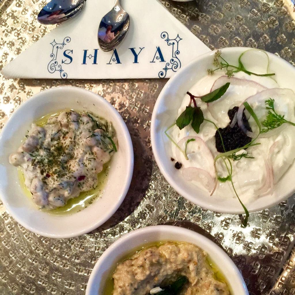 Baba Ganoush and Labneh (photo by Kristine Froeba)