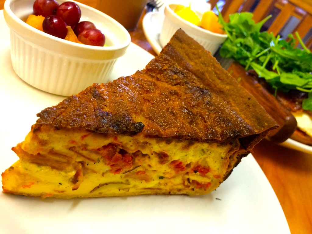 Tartine's Daily Quiche Special with Fruit Salade (Kristine Froeba)