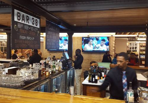 A March 15 photo from the oyster bar area of the Dryades Public Market. (via Facebook)