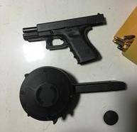 The weapon confiscated in the traffic stop (via NOPD)