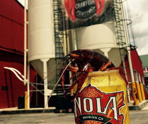 A promotional photo from the recent Crawfish Festival at NOLA Brewery. (via NOLA Brewery on Facebook)