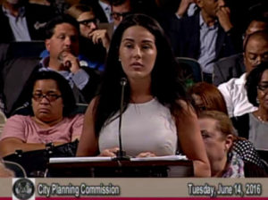 Hillary Barq speaks to the City Planning Commission on Tuesday, June 14. (via City of New Orleans)