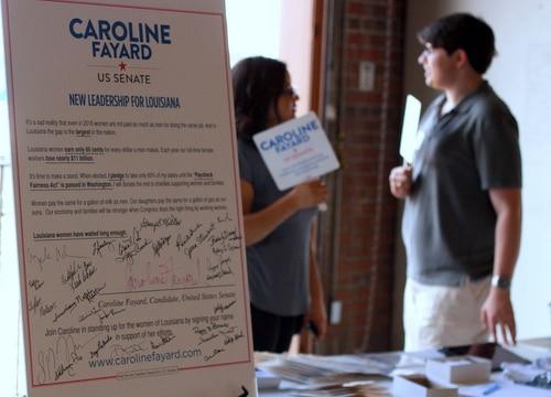 In New Orleans, U.S. Senate candidate Caroline Fayard ...