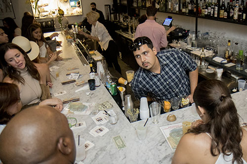 Carlos Quinonez serves up signature cocktails at Bar Frances as part of Tales of the Cocktail. The event, Freret Street Sunday, included bars and restaurants up and down the street. (Zach Brien, UptownMessenger.com)