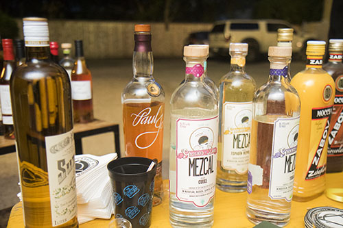 Signature liquors were used in cocktails at Company Burger on Sunday. The event, Freret Street Sunday, included bars and restaurants up and down the street. (Zach Brien, UptownMessenger.com)