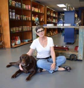Shopkeeper Belinda Wharton and Cassie