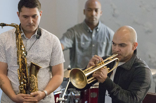 Irvin Mayfield and his band perform at the New Orleans Jazz Market on Oretha Castle Haley during First Fridays on the Boulevard on July 1. The event highlighted businesses on Oretha Castle Haley and included drink and food specials, art exhibits and live music.